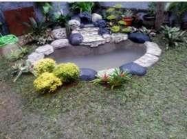Jual rumput dan dekorasi kolam ikan