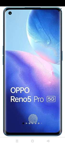 Reno 5pro 5g black color 8Gb ram 128Gb rom