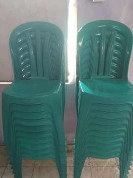 Jual korsi plastik model 102 jumlah 20 warna hijau masih 90%