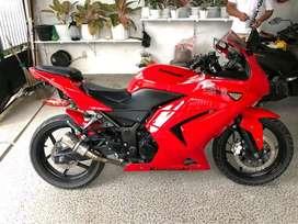 Ninja 250cc zx2r tahun 20011 keyless ada alarm anti maling