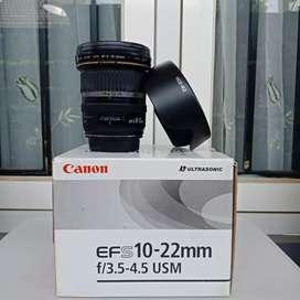 Jual Lensa Ultra Wide Canon Efs 10-22mm USM Normal Mulus