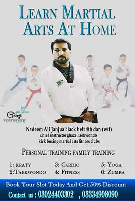 Home instructor for Martial arts and fitness