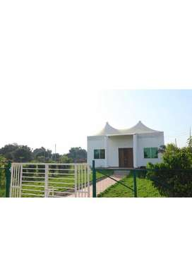 Fully furnished farm house at reasonable rate