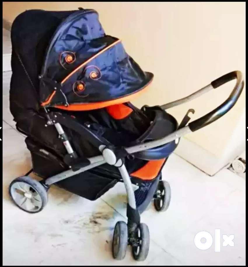 Pram, stroller, Foldable Pram, baby pram, Reversible handle