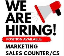 Dicari Karyawati Untuk Front Office/Sales Counter