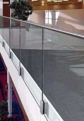 Balkon stainless kaca tempered 8mm