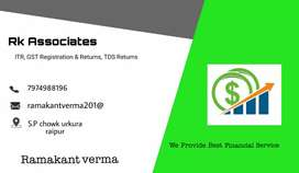 GST registration and return,ITR,TDS return is very low price contactme