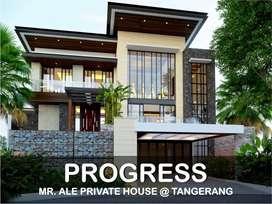 Jasa Arsitek Tangerang Progress Pembangunan Rumah 672.5m2