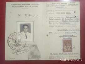Materai plakzegel 1954