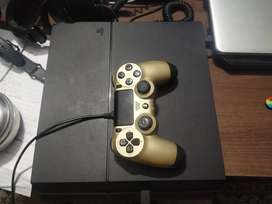 PS 4 1TB WITH GOLDEN CONTROLLER
