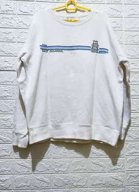 Sweater PL import putih