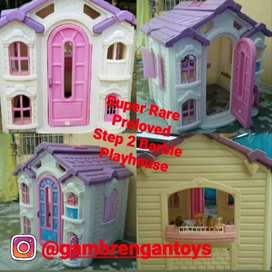 Rare Preloved Step2 Barbie Playhouse no Little Tikes Play house second