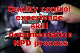 PERMANENT EMPLOYEE FOR QUALITY CONTROL/PRODUCTION