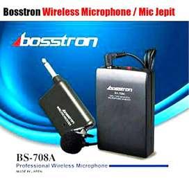 Mic Microphone Wireless Clip Jepit Bosstron BS 708 A