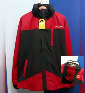 Jaket changker merah hitam Waterproof