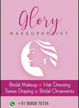 Professional Bridal makeup at ur doorstep start from 2999rs/-