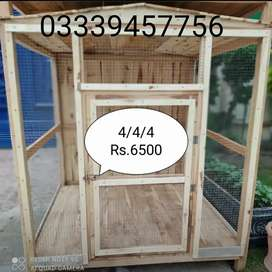 Strong Wooden cages available in different sizes and shapes.