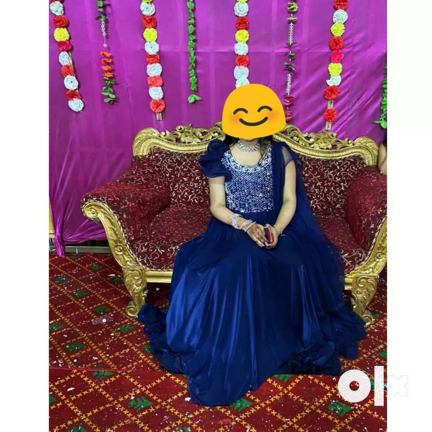 Navy blue colour designer gowns for girls and women
