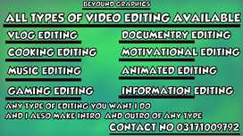 Video editing and editor available