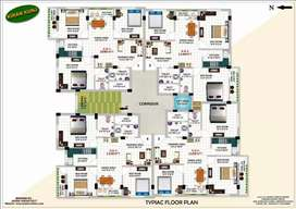 flat for sale in Kadma with jusco water and electricity