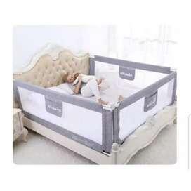 Baby Bedrail BedguardRail Pagar Bayi Pengan Tempat Tidur Grey 120