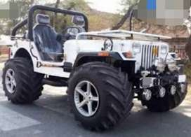 Willy modified white jeep