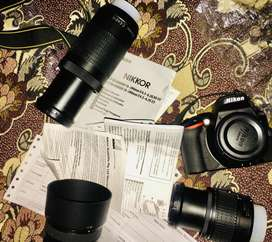 THE NIKON,D5600  10/10(Condition) with 2 kit lenses.