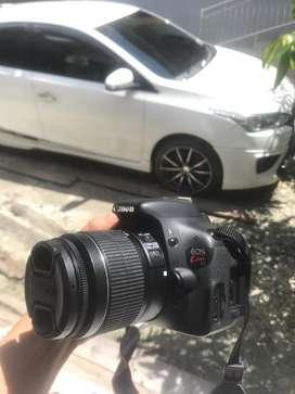 Canon kiss x5 atau 600d lensa 18 55