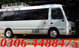Coaster Saloon Coach Bus for Rent Hiroof Rent A Toyota