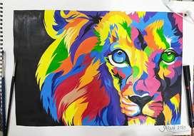 Multi colour painting