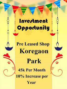 Investment Opportunity Shop at Koregaon Park