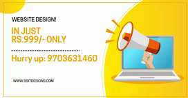 WEBSITE DESIGN FOR RS.999/-
