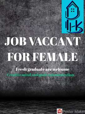 Job vacant for female