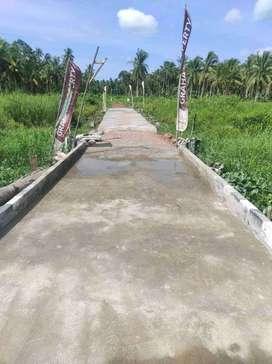 tanah kavling  lokasi  pinggir jalan aspal