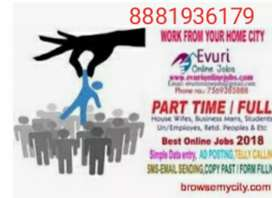 Hiring Back Office Data Entry operator,call us...