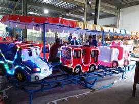 Pabrik wahana odong mini coaster fiber TAYO robocar poli RAA