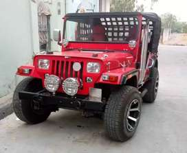 New best Red modified Willy jeep