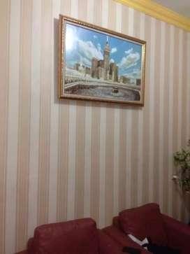 Wallpaper dinding motif elegan