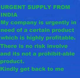 agent from India for the supply of raw materials