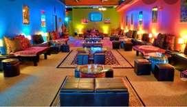 Running Hookah parlor cum restaurant on rent on SALT LAKE Sec-V