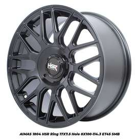 velg new,AIMAS 1804 HSR R17X75 H8X100-114,3 ET45 SMB