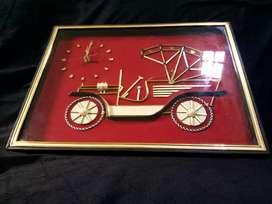 Jam..Wall clock..vintage cars, tinggi 31cm, lebar 41cm