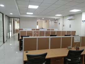 3cabin+1confrenc+45sitting+fully furnished office for rent in noida