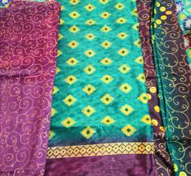 Perpal and green Fabric clothes