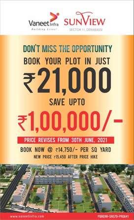125 Sqyd Corner plot for sale Near Chandigarh