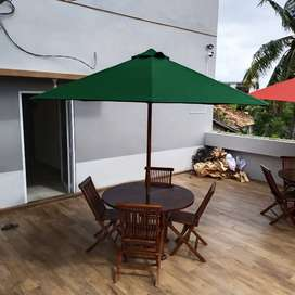 Meja payung kursi santai lengkap di Sekayu . Ready stock palembang