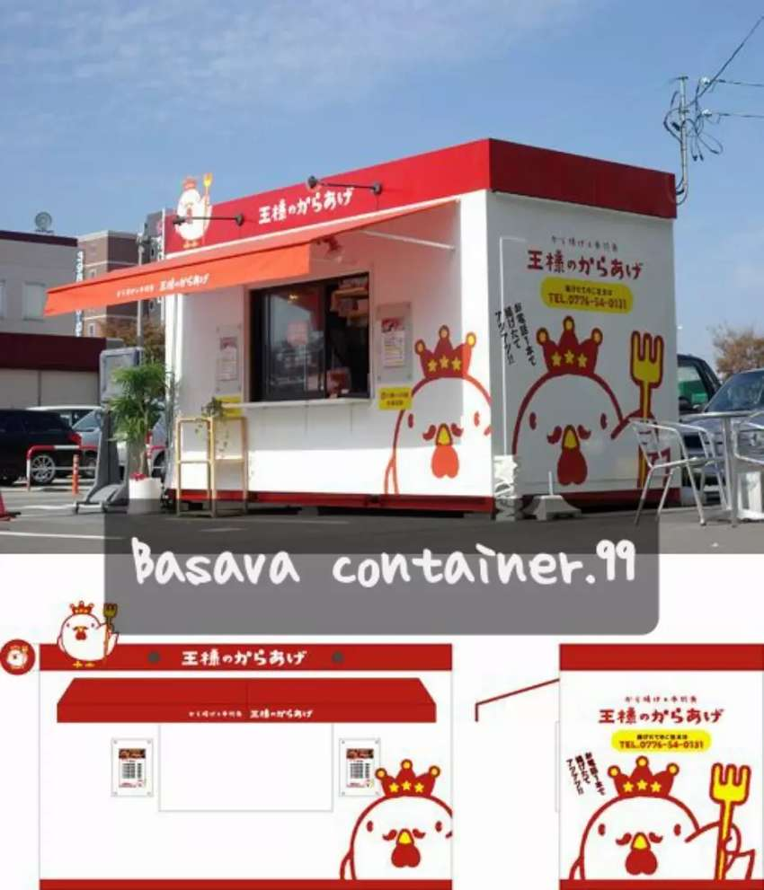 Booth kedai, booth usaha, semi container, booth jualan, booth chicken 0