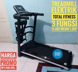 TL-607 Treadmill Elektrik 3in1 Total Fitness Mesin 1.5Hp