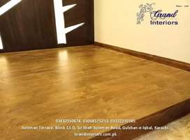 Vinyl flooring and wooden floors by Grand interiors