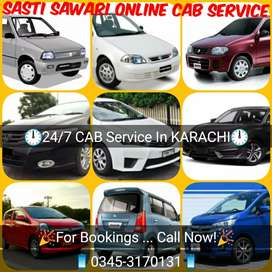 24/7 Online CAB Service Available In KARACHI